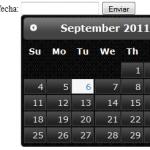 Seleccionar fecha con jQuery y recibir con PHP