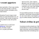 Mostrar texto en columnas con jQuery