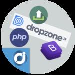 Dropzone múltiple subida de archivos con Bootstrap y PHP
