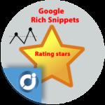 Estrellas de calificación media de tu página Web en Google