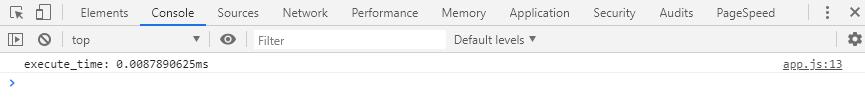 Mostrar el tiempo de ejecución de un código en la consola del navegador