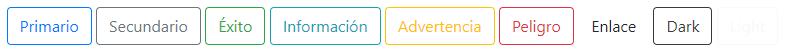 Botones con bordes y sin fondo en Bootstrap