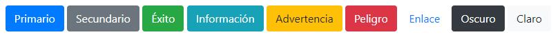 Colores para los botones en Bootstrap 4