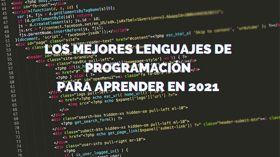 Los mejores lenguages de programación para aprender en 2021