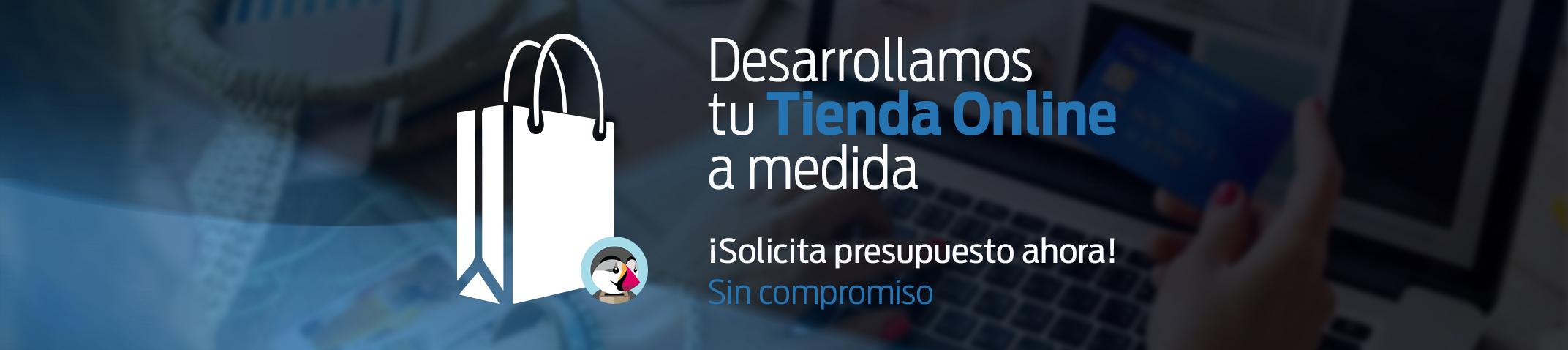 Desarrollo de tiendas online con PrestaShop. Solicita presupuesto